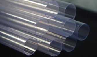 Tubos de plástico rígido transparente